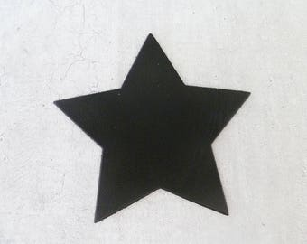 big star 9 cm (3.54 Inc.), black leather, for creation and customization
