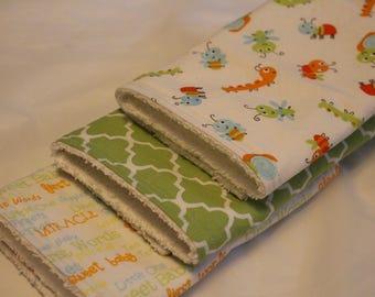 Burp Cloth Set of 3, Burp Rags, Burp Cloths, Baby, Burp Cloths, Baby Shower Gifts, Baby Boy Burp Rags, Nursery