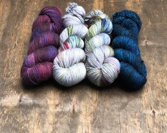 Baubles Shawl Kit E - PREORDER - Hand Dyed Yarn - Andrea Mowry