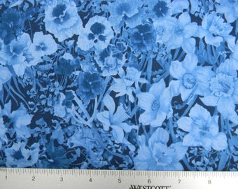 Walking on Sunshine Cotton Fabric In Blues by Wilmington Prints