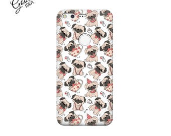 Case for pixelXL, pug pixel case, pixel XL case, dog case, google pixel cover, google pixel xl cover, pixel dogs cover, case with puppies