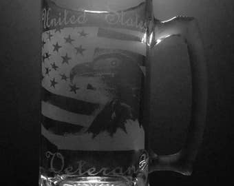 United States Veteran 25 Ounce Beer Mug