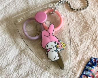 Vintage Sanrio My Melody Rare Scissors Set With Case