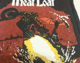 Meat Loaf , vintage patch 'Bat Out of Hell' 80s . Rare .