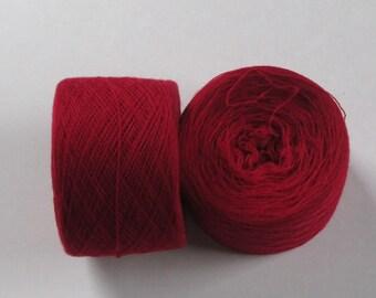 PERFECT RED 100% Merino 3180 yards recycled yarn