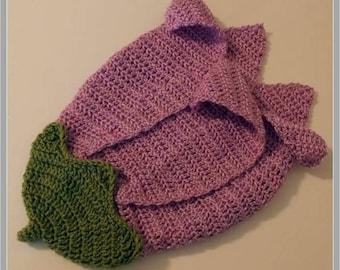 Baby Flower Bud Cocoon Pattern ... Instant Download ... Newborn/0-3 months/3-6 months