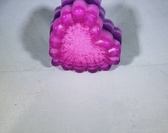 Purple Pink Vanilla Heart Shaped Soap