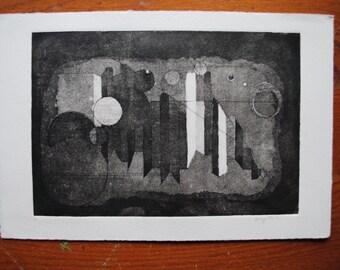 "Aquatint, Untitled 7.5X11""  Shape Series 4.2"