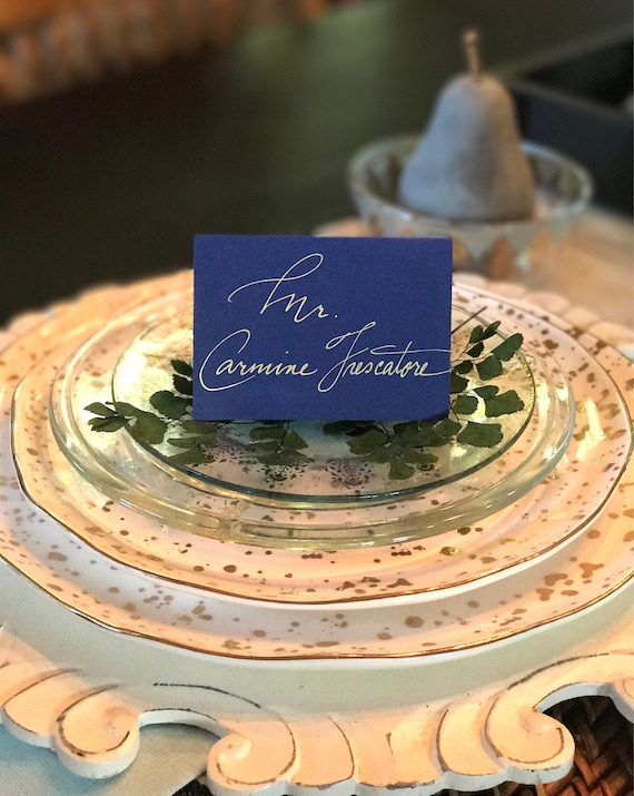 Wedding Place cards/Personalized Handwritten Place Cards/Table Place Cards/Table Cards for Weddings/Showers - Seating Chart Cards Available