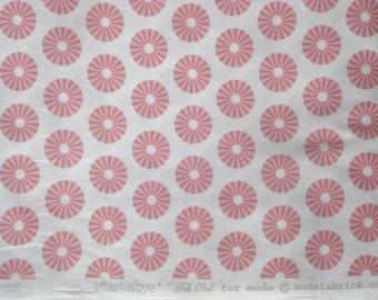 Hushabye Circus Dot pink/white Tula Pink moda fabrics FQ or two