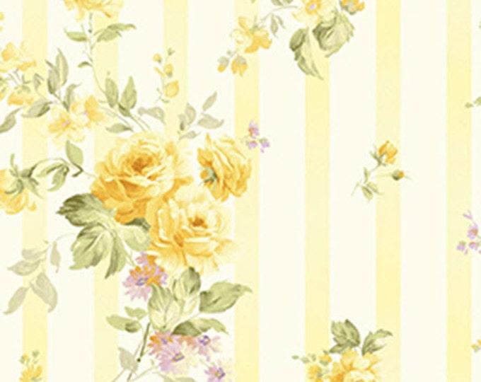 1/4 Yard REMNANT Zoey - Christine in Lemon Chiffon Yellow - Floral Cotton Quilt Fabric - Eleanor Burns - Benartex Fabrics - 716-03 (W3509)