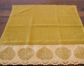Leaf Print Hand Made Towel