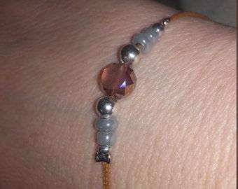 Pink seed Bead Bracelet