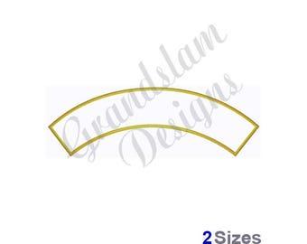Rocker Border Curved Banner - Machine Embroidery Design