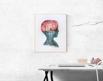 Digital Download Stranger Things Eleven Original Watercolor Painting