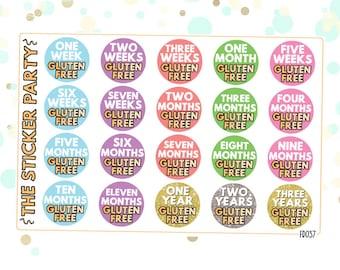 Gluten-Free Stickers Tracker Gluten Free Milestone Achievements