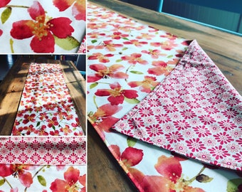 Reversible Table Runner!! Two in one, just flip it! Funhome decor!!