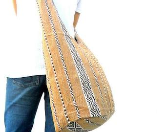 Sling Bag Hobo Bag Boho Bag Hippie Bag Crossbody Bag  Bohemian Bag Shoulder Bag Messenger Bag Cream color Bag Thai Hippie Gift Bag Handbags