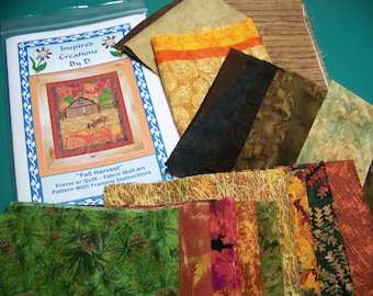 Fall Harvest  Art Quilt Pattern Kit