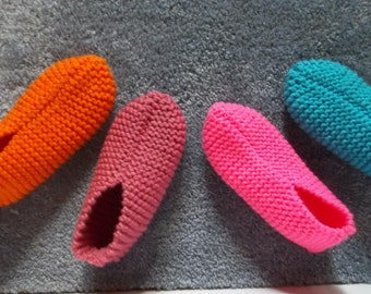 Knitting Grandma Slippers : Knitted slippers etsy