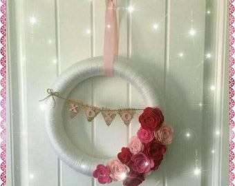 Lovely Handcrafted Valentine Wreath
