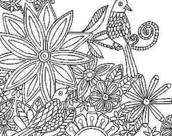 Cross Stitch Pattern, 'Color In Cross Stitch', Flower Cross Stitch, Pamela Varacek, PDF Pattern, Chart, Counted Cross Stitch, Emailed PDF,