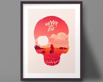 Goonies Art Print Skull Poster Pirate Ship Design