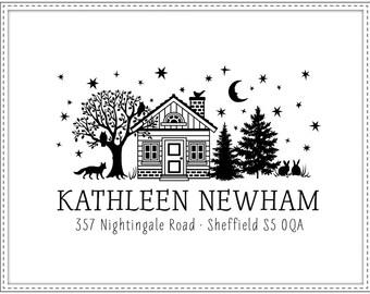 Return address stamp STARRY NIGHT