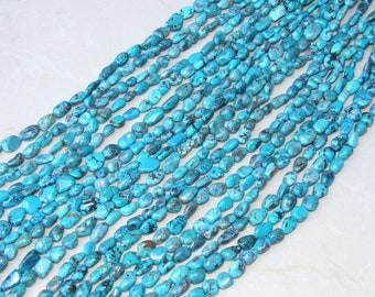 Genuine Natural Turquoise Nuggets. - Turquoise Beads - Real Turquoise - Turquoise Stones.  15 - 19mm - 16 inch Strand - NT2112