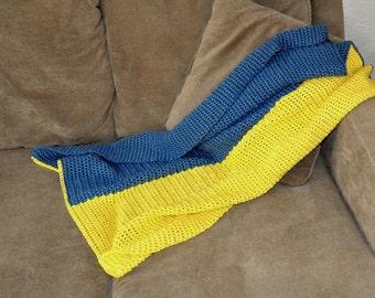 Ukrainian Flag Baby Blanket