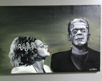 Frankenstien's Monster and His Bride