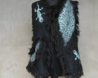 "Felted vest ""Mistress of copper mountain"""