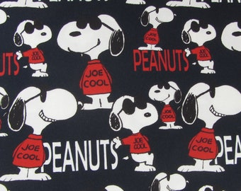 Biojersey Snoopy The Peanuts Cool Joe Blue dark blue Navy black red white jersey textile