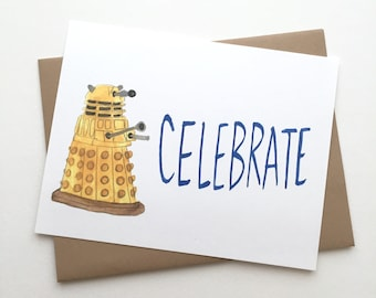 Doctor Who Congratulations// Dalek Card