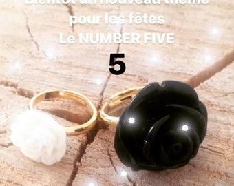 Number Five black ring