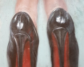 Original Oil Study - Red Bottom Heels