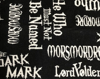 Fabric by the Yard - Harry Potter Buzz Words