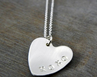 Custom Heart Necklace | Personalized Heart Charm | Custom Sterling Silver Pendant | Girlfriend Gift | Eriadesigns