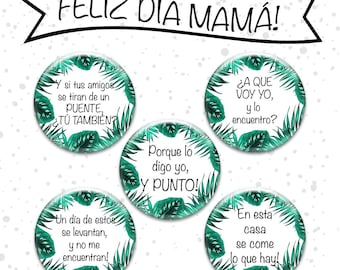 Mother's Day badges, mom days