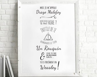 Malfoy - quote frame + Harry Potter