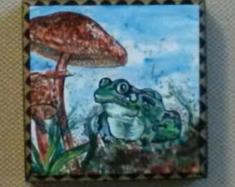 Frog Went a Courting Art Panel