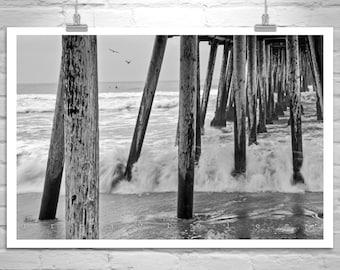 Imperial Beach Picture, San Diego Art, Black and White Beach Photograph, San Diego Picture, Imperial Beach Art Print, San Diego Gift