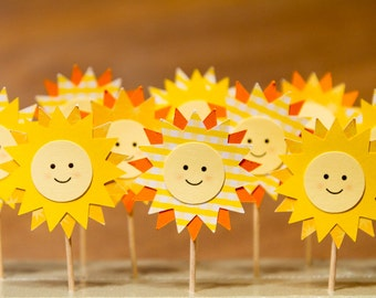 SALE!!!! You are my Sunshine Cupcake / Sandwich Toppers (Set of 20)