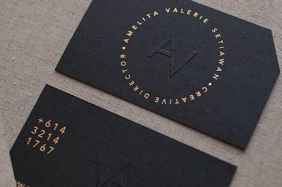 Black and gold business cards vatozozdevelopment black reheart Choice Image