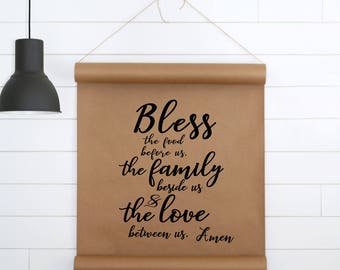 Paper Wall Art,Paper Scroll,Scripture Wall Art,Wall Decor,Cottage Sign,Farmhouse Sign,Farmhouse Wall Decor,Gift For Her,Gift For women