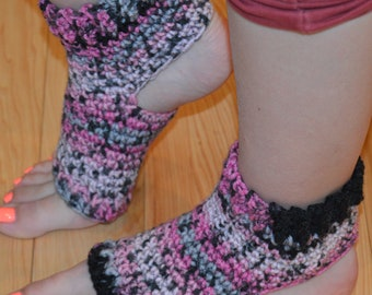 New!!!! Surprise Stripe Crocheted Yoga/Pilates/Dance/Pedicure/Flip Flop Socks (THICK-AVERAGE SIZE)