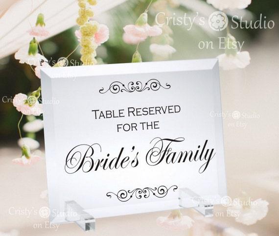wedding reservation cards