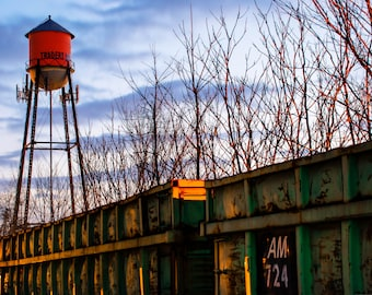 Rogers Arkansas Water Tower, Downtown Rogers, Northwest Arkansas, City of Rogers, Cityscape Photography, Gregory Ballos Fine Art