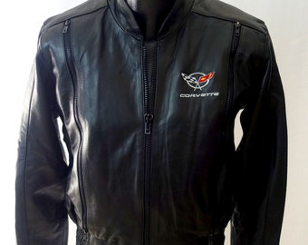 97'-04' C5 Corvette Leather Embroidered Jacket M New W/Tags