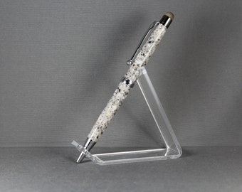 Father's Day Gift Maine Granite Hand Crafted Custom Pen Stylus Slim Ballpoint Mother Father Mom Dad Teacher Grandmother Rocky Coast
